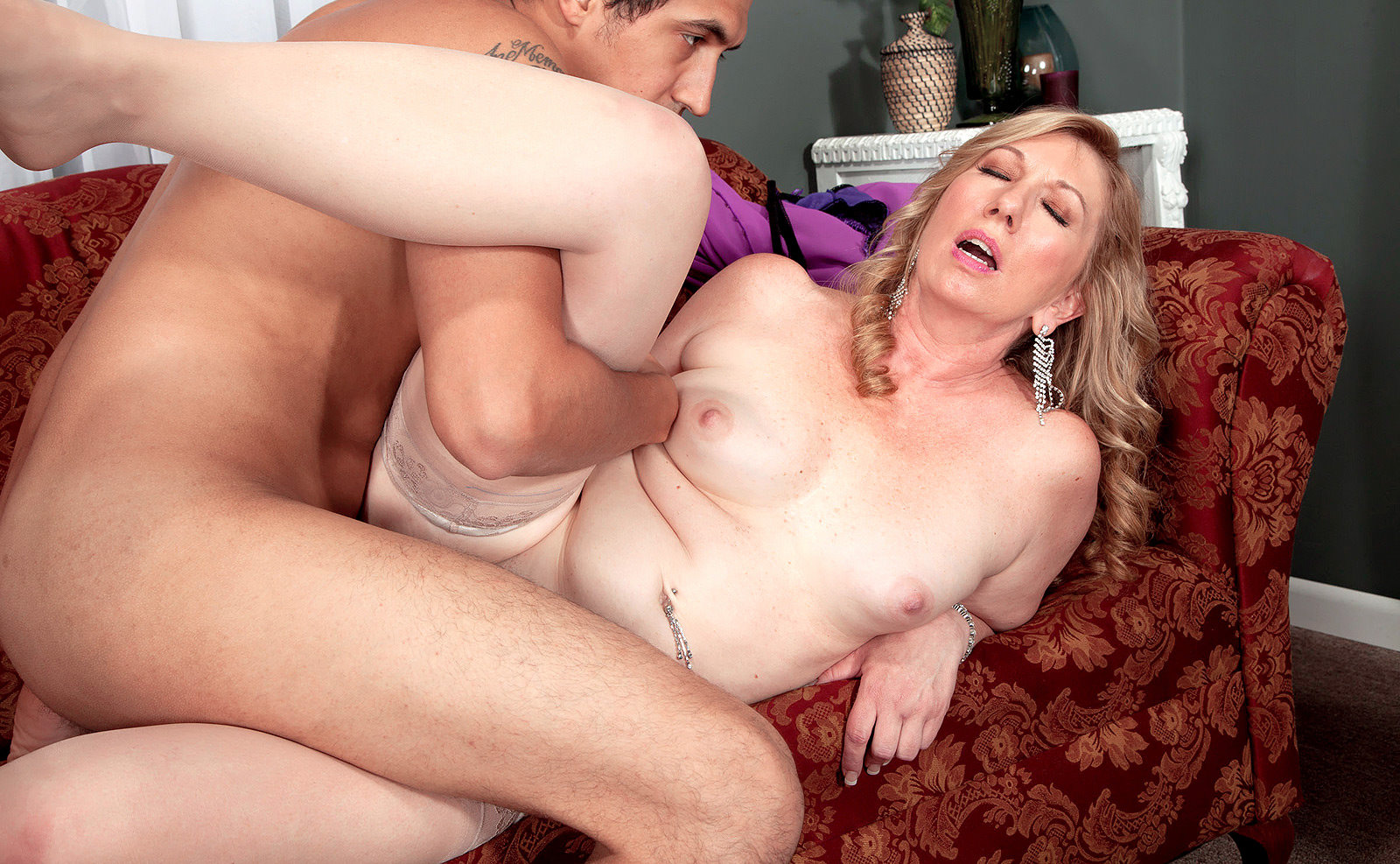 Sexy milf gets fucked by her adopted pal